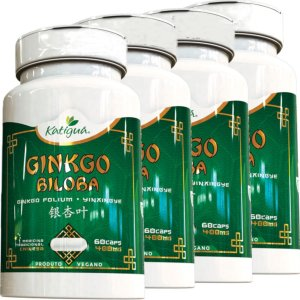 Kit 4 Ginkgo Biloba Katigua 60 Cápsulas