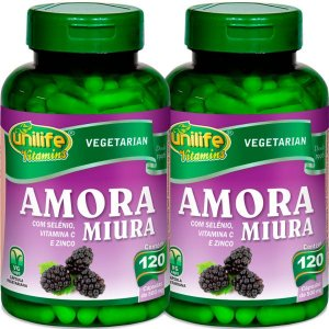 Kit 2 Amora Miura com Vitaminas Unilife 120 capsulas