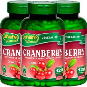 Kit 3 Cranberry Oxicoco Unilife 120 Capsulas