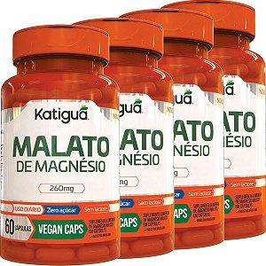 Kit 4 Malato De Magnesio 60 Cápsulas KATIGUA