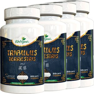 Kit 4 Tribulus Terrestris Jili 400 mg 60 Capsulas Katigua