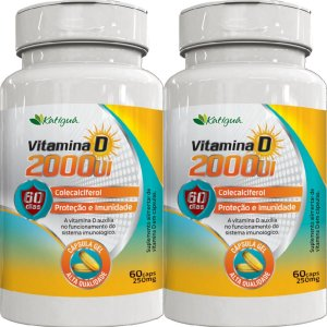 KIT 2 VITAMINA D 2000 UI 60 CAPSULAS KATIGUA