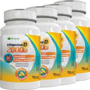KIT 4 VITAMINA D 2000 UI 60 CAPSULAS KATIGUA