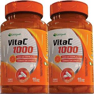 Kit 2 Vita C 1000 Vitamina C 60 Cápsulas Katigua