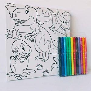 Tela Pinta e Apaga Dinossauro