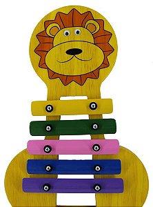 Metalofone Leão Colorido
