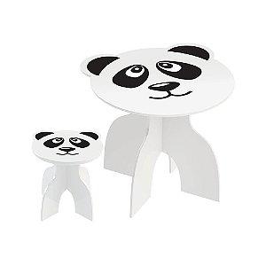 Mesa com Banquinhos Animalkids Panda