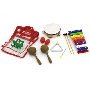 Kit De Percussão Com Bag