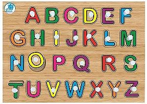 Quebra Cabeça c/ Pinos - Alfabetização