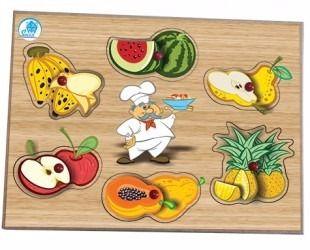 Quebra Cabeça c/ Pinos - Salada e Frutas