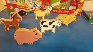 Kit Animais Fazendinha