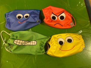 Conjunto de Máscaras das Emoções - Infantil