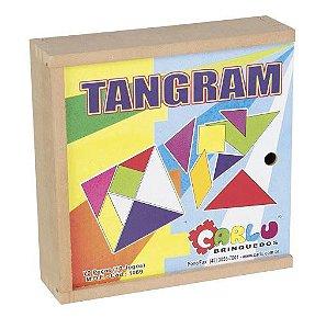 Tangram - caixa em madeira