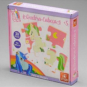 Quebra Cabeça Unicornio - 30peças