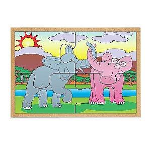 Quebra-cabeça - Casal Elefante