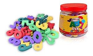 Pote Eva magnéticos Letras e números magnéticos 62 peças