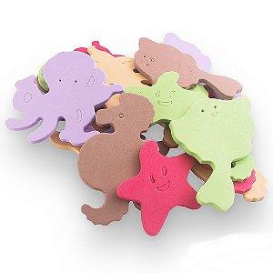 Sacolinha Eva de banho Figuras Didáticas animais marinhos 20 peças
