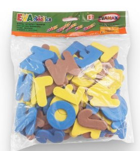 Sacolinha ABC + Vogais em EVA 93 peças