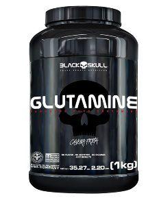 GLUTAMINE CAVEIRA PRETA 1KG BLACK SKULL
