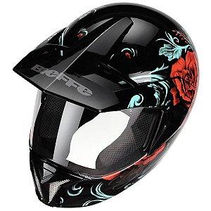 Capacete Bieffe Motocross 3 Sport Senorita Trilha Lançamento
