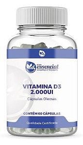Vitamina D3 2.000Ui - 60 Cápsulas