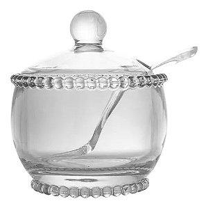 Açucareiro Pearl Cristal com Colher
