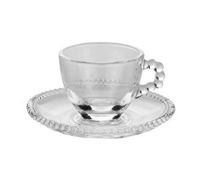 Conjunto Xícaras Café Pearl Cristal
