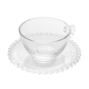 Conjunto Xícaras Chá Pearl Cristal - 4un