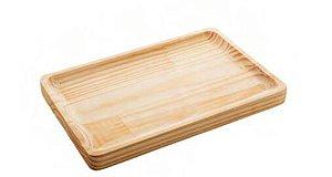 Tábua retangular madeira pinos G