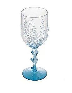Taça Acrílico coral azul