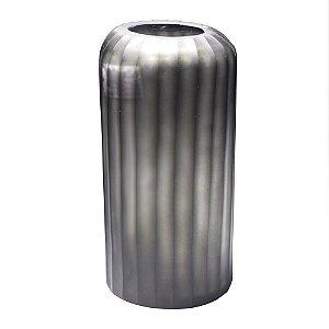 Vaso vidro textura cinza