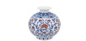 Vaso cerâmica multicolorido
