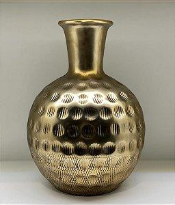 Vaso cerâmica dourado