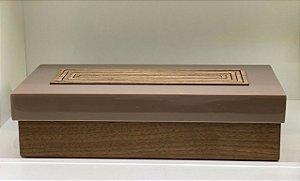 Caixa retangular Cíntia madeira com bambu