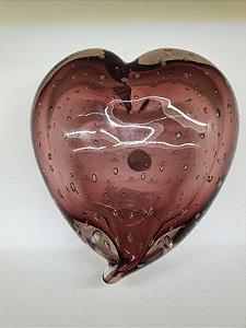Coração em Murano new Rubi translúcido