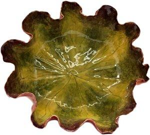 Bowl folha vitória régia P vinho c/ verde