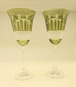 Taças em cristal Safira - conjunto c/6unidades