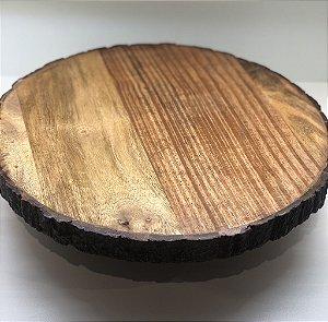 Tábua em madeira redonda