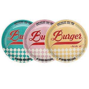 Pratos Burguer set com 6 unidades