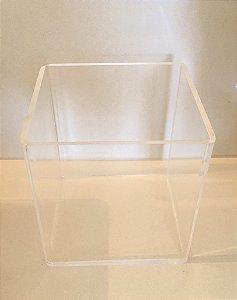 Caixa acrílico cubo