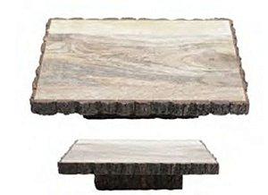 Tábua em madeira retangular