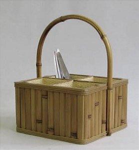 Porta talher em bambu