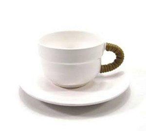 Xícara café cerâmica set c/6unidades