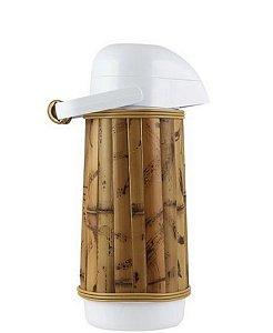 Cafeteira térmica  revestida em bambu natural G