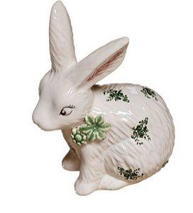 Coelho Toile de Jour verde em cerâmica