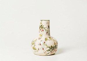 Vaso em cerâmica com estampa Gardênia