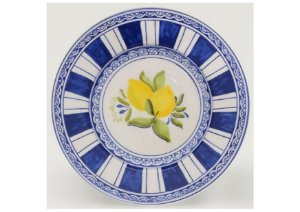 Jogo de Sobremesa em Cerâmica com Estampa Limão Siciliano set. c/6un