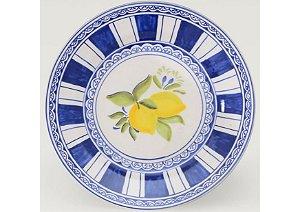 Jogo de Jantar em Cerâmica com Estampa Limão Siciliano set. c/6un