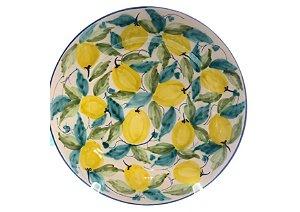 Jogo de Jantar em Cerâmica com Estampa em Limão Siciliano set. c/6un