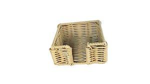 Porta Guardanapo Quadrado em Vime Detalhe Bambu